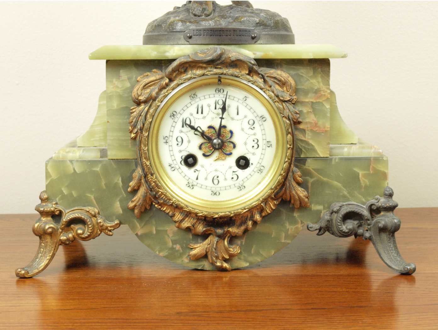 French Statue Mantel Clock, 1870