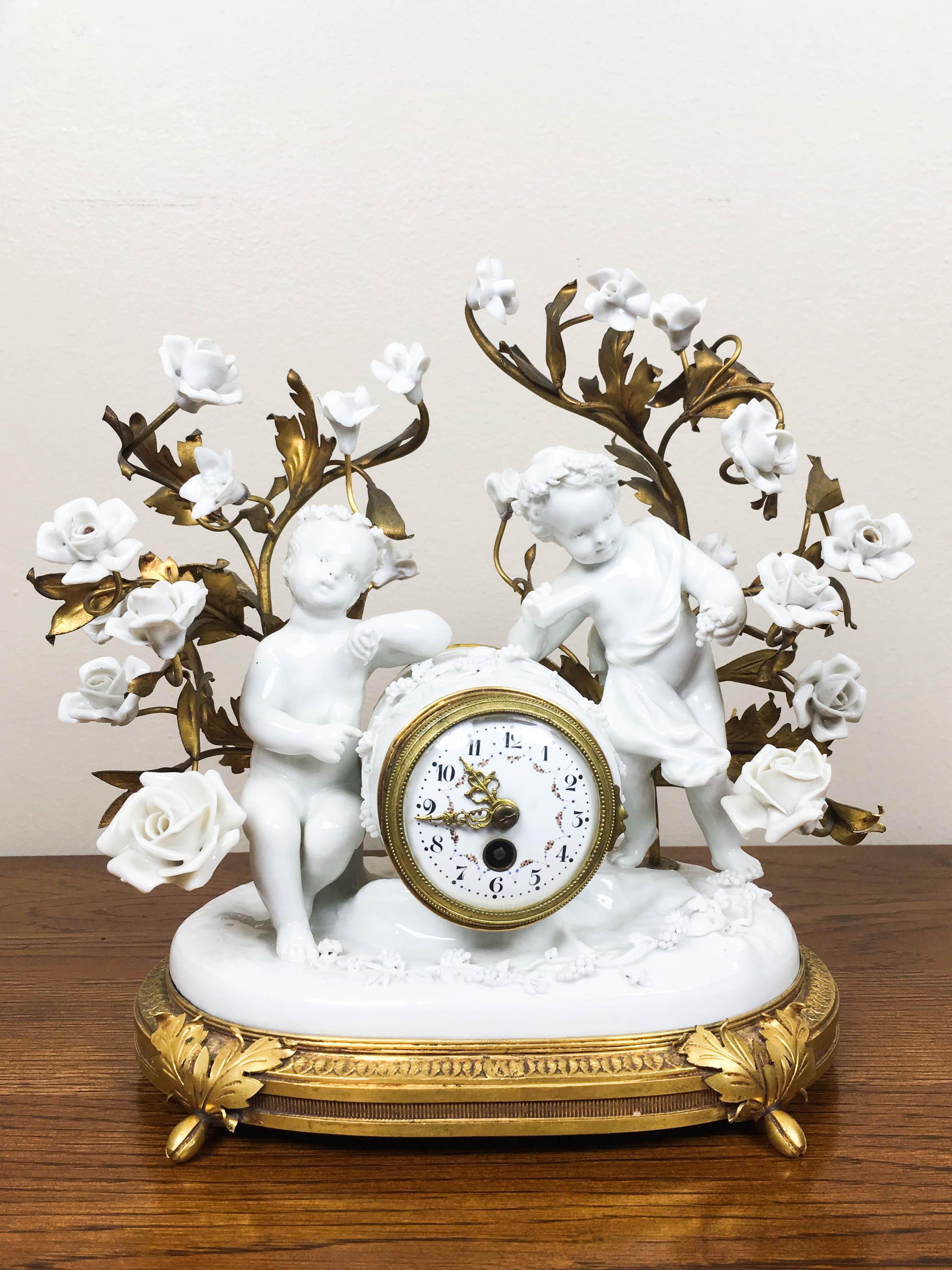 19th Century Capodimonte Porcelain Mantel, France